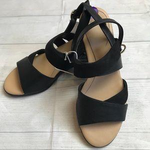 Dr. Scholl's NWOT Black Wedge Sandals Size 8.5